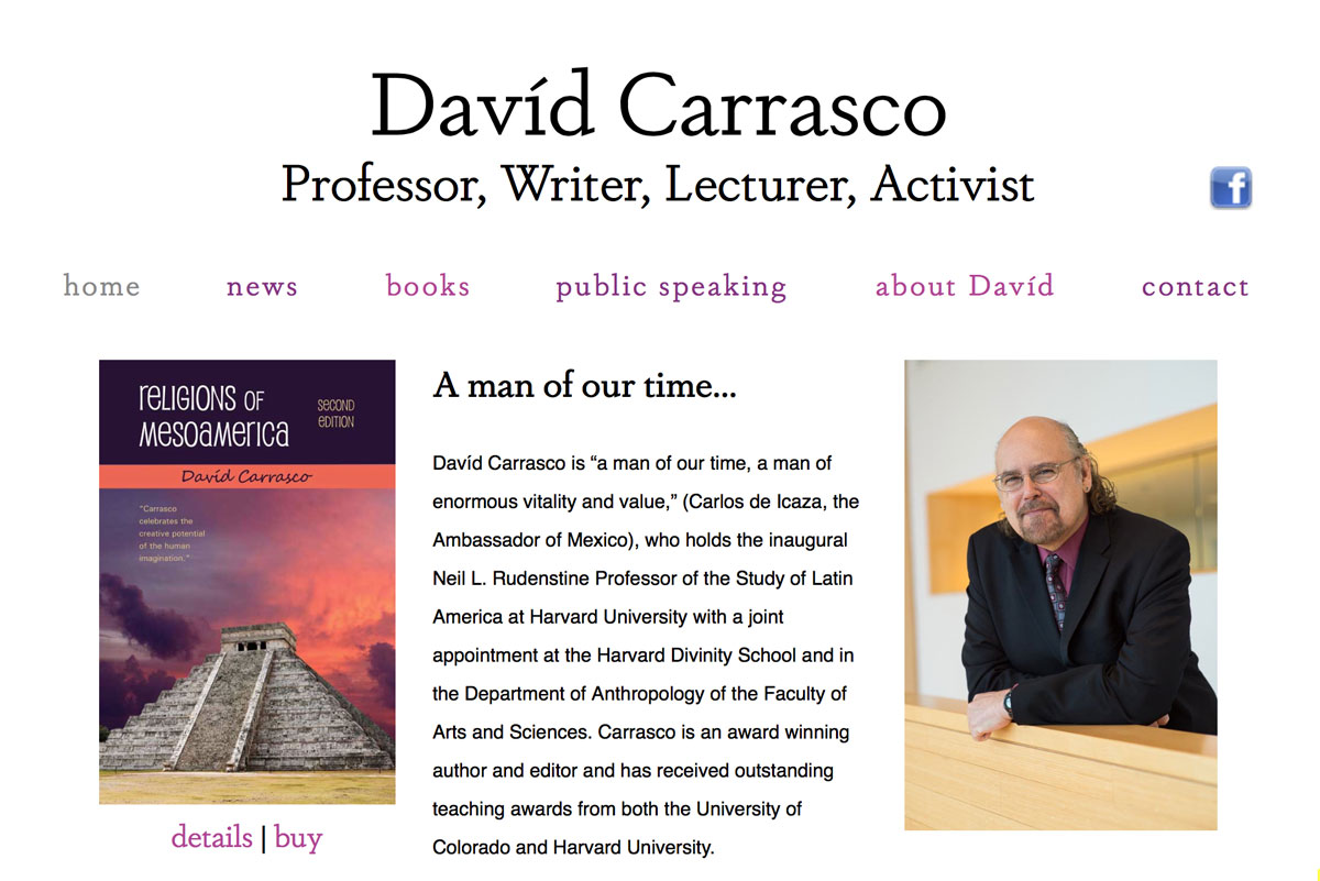 David Carrasco's website