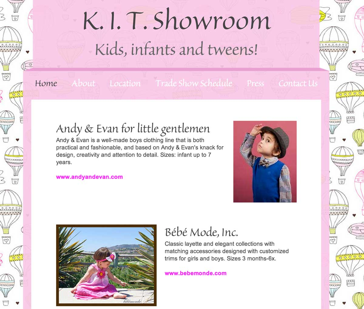 KIT Showroom website