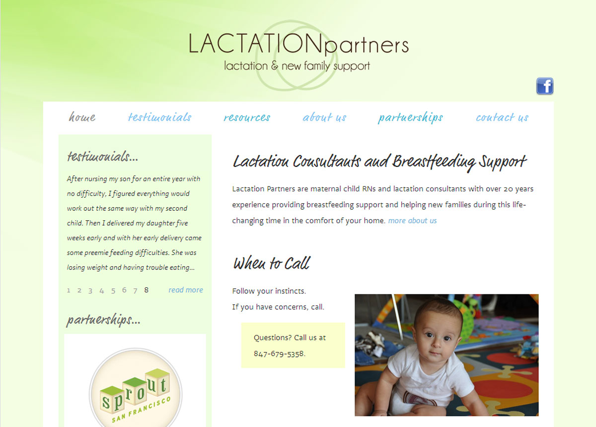 Lactation Partners website